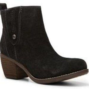 Calvin Klein western suede bootie ankle boot